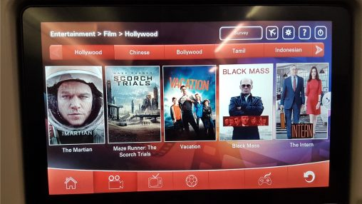 malindo in flight entertainment system
